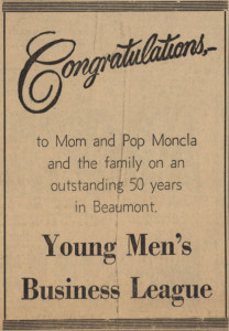 YMBL Congratulates Monclas for 50 Years