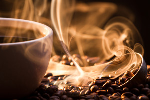 Even the smell of coffee helps